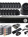 Ultra DIY 16CH D1 realtid H.264 CCTV DVR Kit (16st 420TVL Night Vision CMOS Dome Cameras)