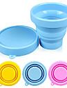 godis färg silikon 170ml fällbara cup (slumpmässig färg)