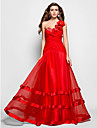 TS Couture® Prom / Formal Evening / Military Ball Dress - Floral Plus Size / Petite A-line / Princess One Shoulder / Sweetheart Floor-length Organza
