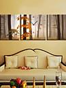 modern stil lönnlöv väggklocka i canvas 3st