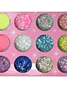 12-kleuren Glitter Poeder Pailletten Nail Decorations
