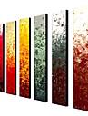 HANDMÅLAD Abstrakt Klassisk Traditionellt Oljemålning Mer än fem paneler