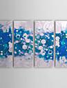Hand målad abstrakt oljemålning med Sträckt Frame Set av 4 1308-AB0723