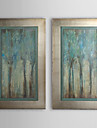 Hand Painted Oil Painting Abstract with Stretched Frame Set of 2 1308-AB0762