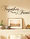 Tillsammans gör vi Sticker Familj Vägg