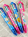 6 Couleur Cartoon Motif Ours Stylo a bille