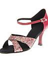 Chaussures de danse(Noir Bleu Rouge) -Personnalisables-Talon Personnalise-Paillette Brillante-Latine Salon