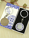 Personalized Round Keyring Favor in Gift Box (Set of 6)