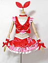 Inspire par PrettyCure Cure Melody Anime Costumes de cosplay Costumes Cosplay / Robes Mosaique Rouge Sans ManchesTop / Jupe / Bracelets /