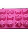 -12-în 1 moale tort cauciuc / pâine / spuma / jelly / ciocolată mucegai (culoare aleatorii)