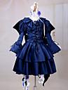 Inspire par Pandora Hearts Alice Anime Costumes de cosplay Costumes Cosplay / Robes Couleur Pleine Bleu Manche LonguesRobe / Bandeau /