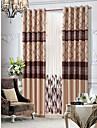 deux panneaux pays beige floral alignes rideau avec ensemble pure