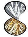 """24 """"2 en 1 argent dore disque reflecteur repliable 60cm"""
