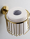 Accessoires de salle de laiton Support de papier hygienique or