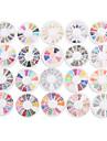 yemannvyou®20pcs roues nail art de la decoration de style mixte