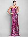 TS Couture® Formal Evening / Military Ball Dress Plus Size / Petite Trumpet / Mermaid Spaghetti Straps Floor-length Sequined with