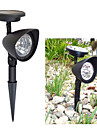 1 pc lumiere blanche lumiere solaire de pelouse solaire Spot lampe 3 ampoules LED lumineuses pour Garden (cis-57140)
