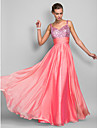 Formal Evening / Prom / Military Ball Dress - Watermelon Plus Sizes / Petite Sheath/Column Spaghetti Straps Floor-lengthChiffon /