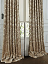 Two Panels Curtain Rococo , Floral / Botanical Bedroom Polyester Material Curtains Drapes Home Decoration For Window