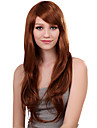 Capless Long Synthetic Golden Blonde Student Straight Hair Wig Side Bang