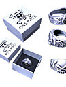 Smycken Inspirerad av One Piece Portgas D. Ace Animé Cosplay Accessoarer Ring Silver Legering Man