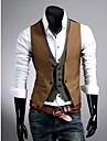 Men\'S Slim Faux Two Piece Vest