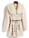 Long Sleeve Turndown Faux Fur Party/Casual Coat(More Colors)