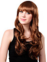 Capless Long Synthetic Golden Curly Hair Wig Full Bang