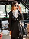 TS Ruffle Hem Tweed Casaco Comprido