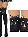 Cute Kittens Black Sweet Lolita Stockings