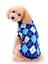 Câini Pulovere Îmbrăcăminte Câini Iarnă Primăvara/toamnă Tartan/Carouri Modă Clasic Albastru