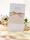 """Șal & Buzunar Invitatii de nunta Invitații Stil Clasic Hârtie Perlă 8 ½""""×4 ½"""" (21.5*11.5cm) Funde Perlat"""