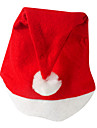 Hattar Tomtekostymer Festival/Högtid Halloween Kostymer Röd Hatt Jul Sammet