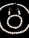 Set bijuterii Pentru femei Aniversare / Nuntă / Zi de Naștere / Cadou / Petrecere / Ocazie specială Set Bijuterii Perle / ȘtrasColiere /