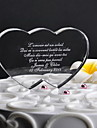 Cake Topper Personalized Hearts Crystal Wedding / Anniversary Classic Theme Gift Box
