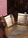 Personlig gåva-Guld-Rostfritt stål-Manschettknappar- tillUnisex