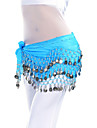 Belly Dance Belt Women\'s Training Chiffon Coins 1 Piece Blue / Green / Yellow Belly Dance / Ballroom Spring, Fall, Winter, SummerHip