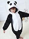 Kigurumi Pyjamas Panda Leotard/Onesie Halloween Animal Sovplagg Svart/Vit Lappverk Flanell Kigurumi Barn Halloween