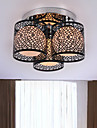 Max 60W Modern/Contemporary Painting Metal Flush Mount Bedroom / Dining Room / Kitchen