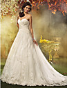 Lanting Bride A-line / Princess Petite / Plus Sizes Wedding Dress-Court Train Sweetheart Tulle