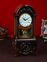 """19 """"Retro Typ Brown Tabletop Clock"""