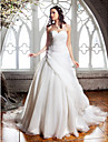 Lanting Bride® A-line Petite / Plus Sizes Wedding Dress - Classic & Timeless / Elegant & Luxurious Court Train Sweetheart Organza with