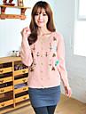 Yihuasha Fashion Floral Print långärmad tröja