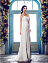 Lanting Bride® Sheath / Column Plus Sizes / Petite Wedding Dress - Classic & Timeless / Glamorous & Dramatic Spring 2014 / Fall 2013Sweep