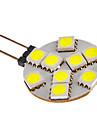 g4 2W 9x5050smd 81lm lumiere blanche chaude / froide Ampoule LED pour la voiture (12V DC)