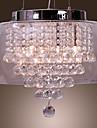 kunstneriske 6 - lys krystalvedhæng lys med glasskærm