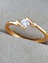 Or 18K anneau de Zircon de Bin Bin femmes (J1290)