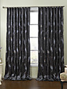 (Two Panels) Modern Fancy Feathers Embroidery Energy Saving Curtain