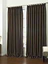 (Two Panels) Modern Fancy Square Lace Energy Saving Curtain