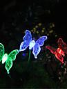 Solaire couleur de changement de papillon Jardin lumiere (CIS-57254B)